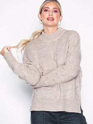 Pieces Pcfay Ls Wool Knit Bf Vit