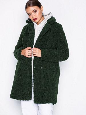 Fuskpälsjackor - Noisy May Nmgabi L/S Jacket 5 Mörk Grön