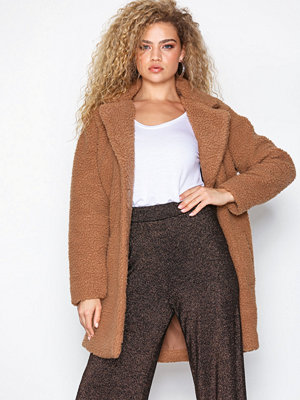 Only onlAURELIA Oversized Shearling Coat Camel