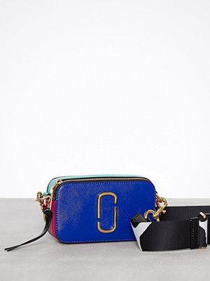 Marc Jacobs omönstrad axelväska Snapshot Bag Blue Multi