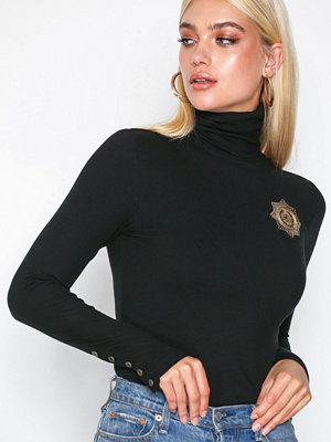 Polo Ralph Lauren Tn W/ Crest-Long Sleeve-Knit Black