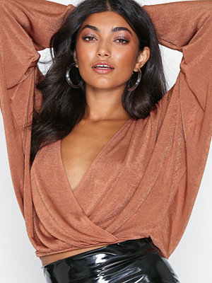NLY One Oversize Glam Top Rust