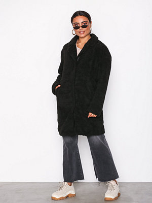 Vila Vifaira Faux Teddy Coat Svart