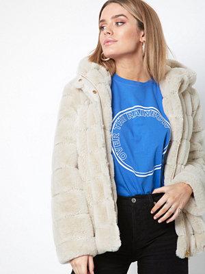 Fuskpälsjackor - Samsøe & Samsøe Saba jacket 7309 Beige
