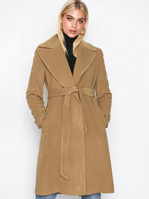 Lauren Ralph Lauren Solid Wl Wrp-Coat Medium Beige