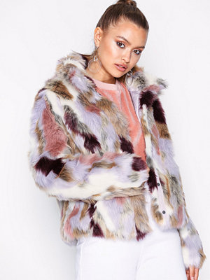 Vila Viveria Faux Fur Jacket Ljus Grå