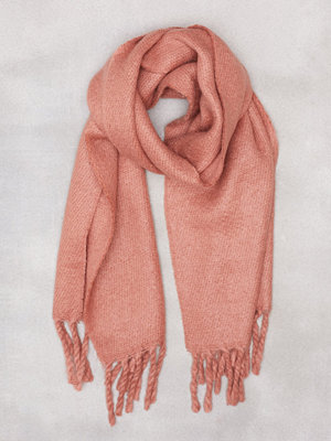 NLY Accessories Big Brushed Scarf Rosa