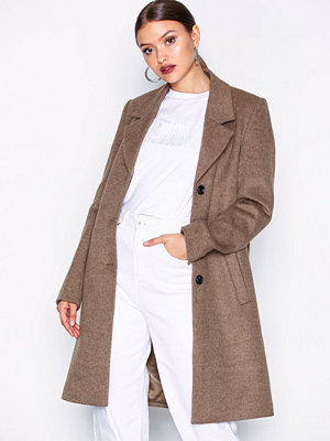 Selected Femme Slfsasja Wool Coat Noos B Brun