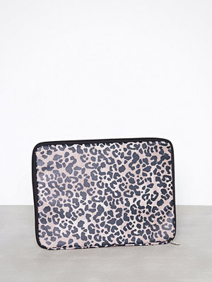New Look datorväska Brown 15'' Leopard Print Laptop Case Mönstrad