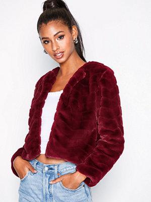 Jacqueline de Yong Jdyevan Short Fake Fur Jacket Otw Q Mörk Lila