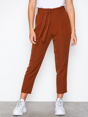 New Look bruna byxor Tie Waist Trouser Brown