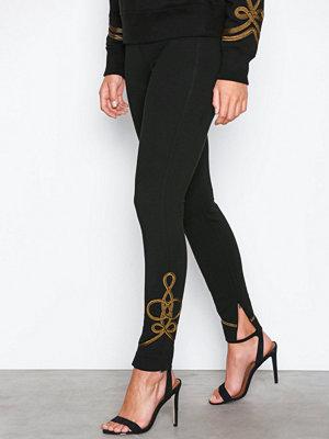 Polo Ralph Lauren svarta byxor med tryck Soutache-Straight-Pant Black