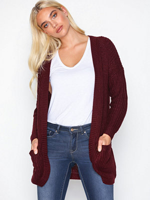 Only onlEMMA New L/S Cardigan Knt Mörk Lila