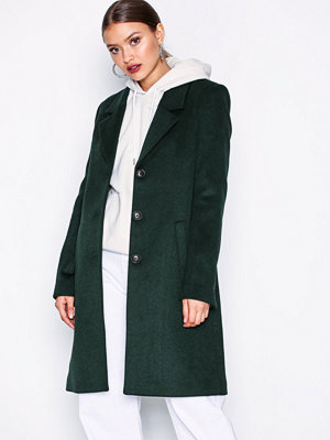 Selected Femme Slfsasja Wool Coat Noos B Mörk turkos