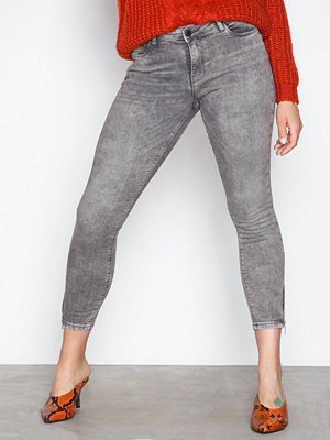 Noisy May Nmkimmy Nw Ankle Zip Jeans AZ006LG Ljus Grå