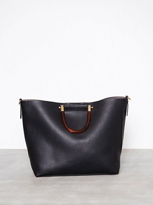 Handväskor - Topshop Tortoiseshell Handle Shoulder Bag Black