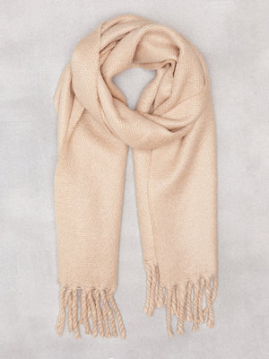 NLY Accessories Big Brushed Scarf Beige