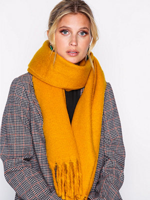 NLY Accessories Big Brushed Scarf Mustard