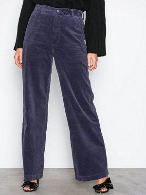 Polo Ralph Lauren marinblå byxor N Mk Pt-Straight-Wide Leg-Pant Blue