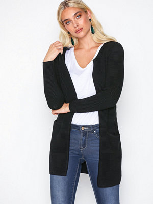 Only onlANNA L/S Long Cardigan Knt Svart