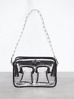NuNoo grå axelväska Ellie Transparent Transparent