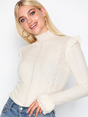 Polo Ralph Lauren Ruffle Long Sleeve Sweater Natural