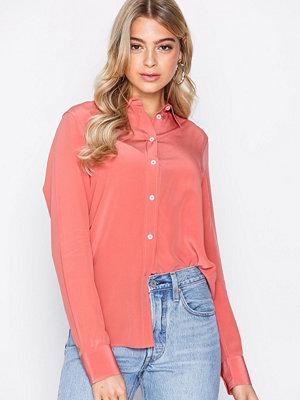Filippa K Classic Silk Shirt Orange