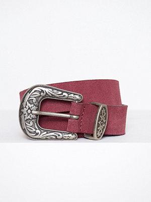 Bälten & skärp - Vero Moda Vmpernille Suede Slim Jeans Belt Mörk Lila