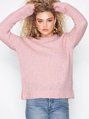 Tröjor - Pieces Pcfortuna Ls Wool Knit Noos Rosa