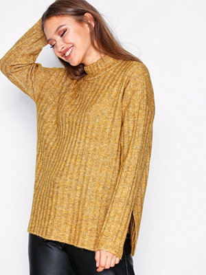 Pieces Pcsanni Ls Wool Knit Noos Ljus Brun