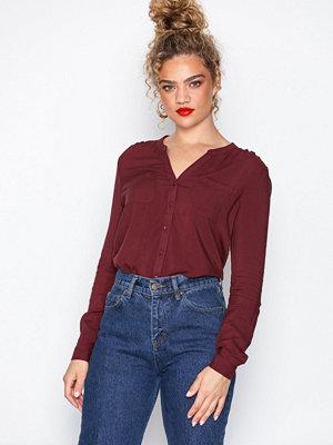 Only onlFIRST Ls Pocket Shirt Noos Wvn Mörk Lila