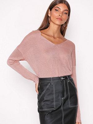 Only onlPISA L/S V-Neck Pullover Knt Noo Ljus Rosa