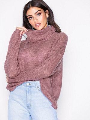 Jacqueline de Yong Jdydaisy L/S High Neck Pullover Knt Lila
