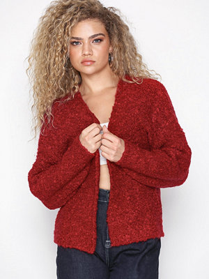 New Look Short Boucle Cardigan Red
