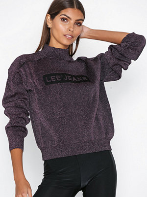 Lee Jeans Lurex Knit Röd