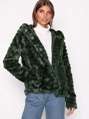 Object Collectors Item Objnew Sandie Faux Fur Jacket 98 Mörk Grön