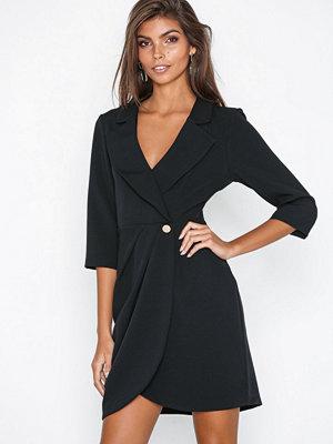 River Island LS Tux Dress Black