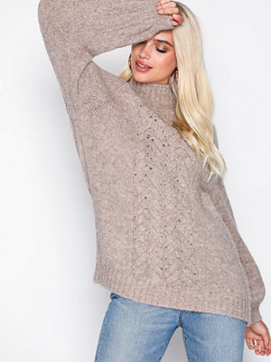 MOSS Copenhagen Caren H-Cable Pullover Rose