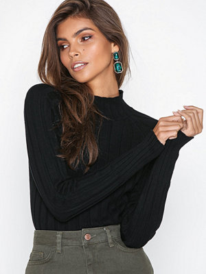 River Island High Neck Top Black