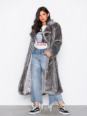 One Teaspoon Verona Faux Fur Trench Coat