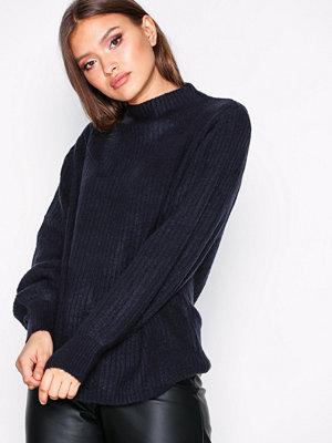 Jacqueline de Yong Jdysugar L/S Highneck Pullover Knt Mörk Blå