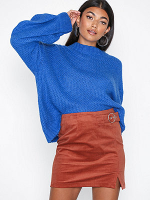 Glamorous Cord Button Skirt Rust