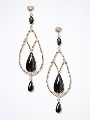 Lily and Rose örhängen Garbo earrings Jet Black