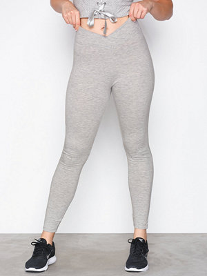 NLY SPORT Grey Swan Tights Grå Melange