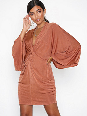 NLY One Kimono Twist Dress Rust