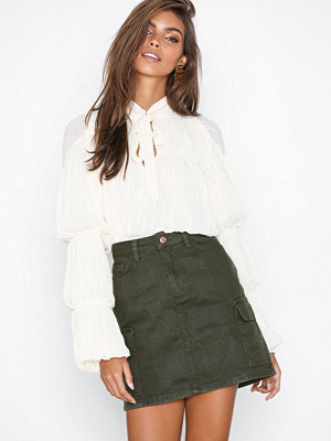 New Look Cargo Denim Skirt Khaki