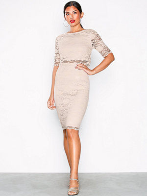 NLY Eve Lace Dream Bodycon Dress Champagne