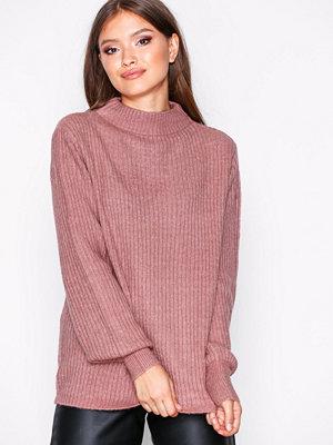 Jacqueline de Yong Jdysugar L/S Highneck Pullover Knt Lila