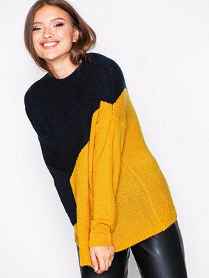 Tröjor - Jacqueline de Yong Jdyeva L/S Pullover Knt Night Sky