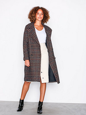 Only onlADRIANA Oversized Check Wool Coa